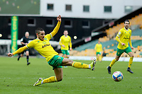 13th February 2021; Carrow Road, Norwich, Norfolk, England, English Football League Championship Football, Norwich versus Stoke City; Emi Buendia of Norwich City crosses the ball for Teemu Pukki to score for 2-0