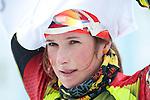 MARTELL-VAL MARTELLO, ITALY - FEBRUARY 02: JOHANIDESOVA Lea (CZE) after the Women 7.5 km Sprint at the IBU Cup Biathlon 6 on February 02, 2013 in Martell-Val Martello, Italy. (Photo by Dirk Markgraf)