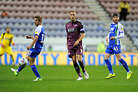 Mike van der Hoorn of Swansea City in action during the Sky Bet Championship match between Wigan Athletic and Swansea City at the DW Stadium in Wigan, England, UK. Friday 02 October 2018