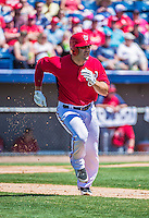 9 March 2014: Washington Nationals second baseman Danny Espinosa in action during a Spring Training game against the St. Louis Cardinals at Space Coast Stadium in Viera, Florida. The Nationals defeated the Cardinals 11-1 in Grapefruit League play. Mandatory Credit: Ed Wolfstein Photo *** RAW (NEF) Image File Available ***