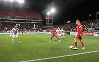 TORONTO, ON - OCTOBER 15: Scott Arfield #8 of Canada moves with the ball during a game between Canada and USMNT at BMO Field on October 15, 2019 in Toronto, Canada.