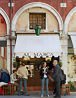 The Al Marca cafe in the Rialto district of Venice is a firm favourite with locals and tourists alike.