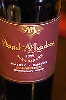 Bottle of Angel A Mendoza Malbec Cabernet Sauvignon 1999 Pura Sangre Domaine St Diego Lunlunta Maipu Mendoza The O'Farrell Restaurant, Acassuso, Buenos Aires Argentina, South America