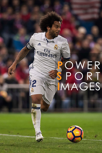 Marcelo Vieira Da Silva of Real Madrid in action during their La Liga match between Atletico de Madrid and Real Madrid at the Vicente Calderón Stadium on 19 November 2016 in Madrid, Spain. Photo by Diego Gonzalez Souto / Power Sport Images