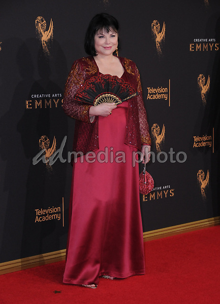 10 September  2017 - Los Angeles, California - Delta Burke. 2017 Creative Arts Emmys - Arrivals held at Microsoft Theatre L.A. Live in Los Angeles. Photo Credit: Birdie Thompson/AdMedia