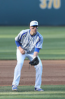 David Leiderman (24) of the Hofstra Pride in the field during a game against the UCLA Bruins at Jackie Robinson Stadium on March 14, 2015 in Los Angeles, California. UCLA defeated Hofstra, 18-1. (Larry Goren/Four Seam Images)