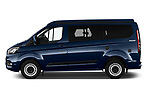 Car Driver side profile view of a 2020 Ford Transit-Custom Nugget 4 Door Camper Van Side View