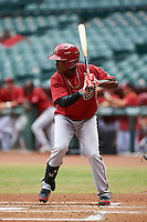 Arizona Diamondbacks Domingo Leyba (4) during an instructional league game against the San Francisco Giants on October 16, 2015 at the Chase Field in Phoenix, Arizona.  (Mike Janes/Four Seam Images)