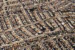 Houses in suburban development, Santa Cruz, Monterey Bay, California