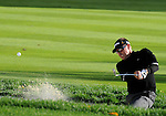 5 October 2008: Robert Allenby tries to escape from a bunker during the final round at the Turning Stone Golf Championship in Verona, New York.