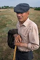 REPUBLIC OF MOLDOVA, Gagauzia, Vulcanesti, 2009/06/29..On the border of Vulcanesti village, eldery people guard donkeys and geese..© Bruno Cogez / Est&Ost Photography..REPUBLIQUE MOLDAVE, Gagaouzie, Vulcanesti, 29/06/2009..En marge du village de Vulcanesti, les anciens gardent les anes et les oies..© Bruno Cogez / Est&Ost Photography