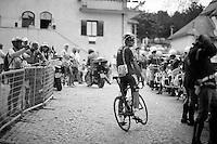 Adam Hansen (AUS/Lotto-Belisol) looking to join the Italian motorised police force<br /> <br /> 2014 Giro d'Italia <br /> stage 17: Sarnonico - Vittori Veneto (208km)