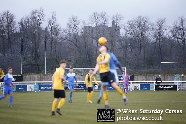 Penrith AFC V Hebburn Town, Northern League Division One, 22nd December 2018. Penrith are the only Cumbrian team in the Northern League. All the other teams are based across the Pennines in the north east.<br /> Penrith, winless at kick off, lost a thriller 3-4, in front of 100 people. They won five games all season, but were reprieved from relegation following Blyth's resignation from the league.