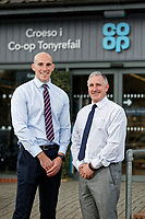 (L-R) Regional manager Edd Howe with store manager Wayne Tyler