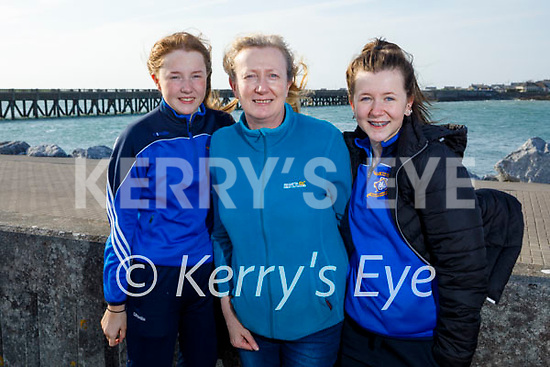 Enjoying a stroll on the pier in Fenit on Friday, l to r: Laura, Cathy and Katie Fitzgerald.