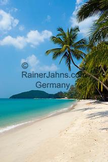 Thailand, Southern Thailand, Province Surat Thani, Ko Samui island: A west coast beach | Thailand, Suedthailand, Provinz Surat Thani, Insel Ko Samui: einsamer Strand an der Westkueste