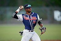 Kendall Logan Simmons (11) while playing for East Cobb Yankees based out of Marietta, Georgia during the WWBA World Championship at the Roger Dean Complex on October 20, 2017 in Jupiter, Florida.  Kendall Logan Simmons is a shortstop / third baseman / pitcher from Macon, Georgia who attends Tattnall Square Academy.  (Mike Janes/Four Seam Images)
