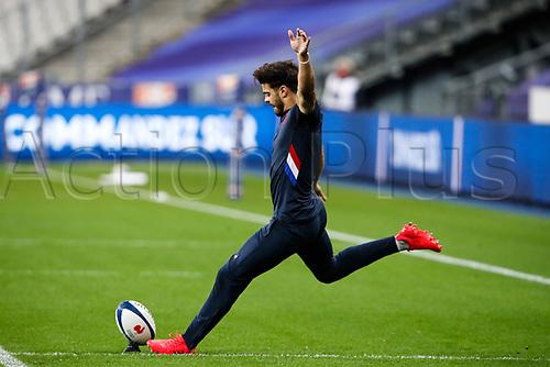 31st October 2020; Stade de France, Paris, France; Six Nations Rugby International, France versus Ireland;  Romain Ntamack ( 10 - France ) during pre-game warm-up