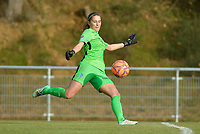Genk's goalkeeper Joséphine Delvaux pictured during a female soccer game between RSC Anderlecht Dames and KRC Genk Ladies  on the sixth matchday of the 2020 - 2021 season of Belgian Womens Super League , Sunday 8 th of November 2020  in Overijse , Belgium . PHOTO SPORTPIX.BE | SPP | DIRK VUYLSTEKE