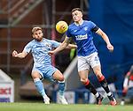 25.07.2020 Rangers v Coventry City: George Edmundson and Matt Godden