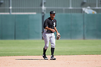 Chicago White Sox second baseman Lenyn Sosa (13) during an Instructional League game against the Oakland Athletics at Lew Wolff Training Complex on October 5, 2018 in Mesa, Arizona. (Zachary Lucy/Four Seam Images)