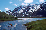 Alaska, Sea Kayakers, Kenai Fjords National Park, Kenai Peninsula, Pederson Lagoon, .