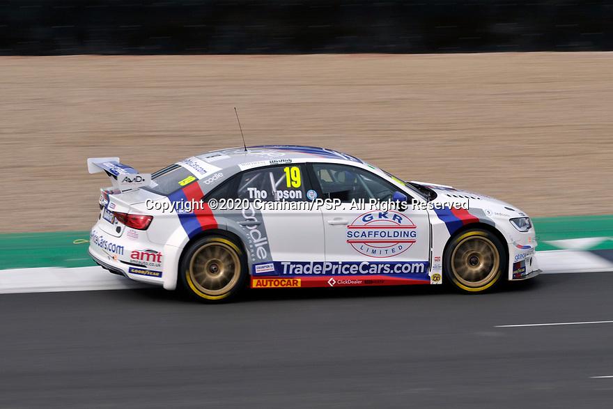 2020 British Touring Car Championship Media day. #19 Bobby Thompson. GKR TradePriceCars.com. Audi S3.