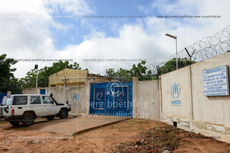 CHAD, Goz Beida, secured UNHCR camp / TSCHAD, Goz Beida, gesichertes UNHCR camp