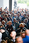 Fans, nearly all unmasked, making their way into the Milburn stand. Newcastle v West Ham, August 15th 2021. The first game of the season, and the first time fans were allowed into St James Park since the Coronavirus pandemic. 50,673 people watched West Ham come from behind twice to secure a 2-4 win.