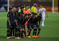 CARSON, CA - SEPTEMBER 06: Los Angeles Football Club starting eleven during a game between Los Angeles FC and Los Angeles Galaxy at Dignity Health Sports Park on September 06, 2020 in Carson, California.