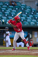 Palm Beach Cardinals Todd Lott (38) bats during a game against the Jupiter Hammerheads on May 11, 2021 at Roger Dean Chevrolet Stadium in Jupiter, Florida.  (Mike Janes/Four Seam Images)