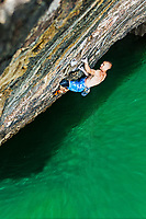 Neil Gresham makes first ascent of the 'Olympiad' 8b, Pembroke