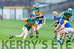 Kerry's Sean Brosnan runs at the Tipperary defence during the Munster Minor Hurling Championship