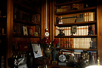 The living room during the opening of the actor Alberto Sordi's house museum in Rome. In occasion of the centenary of his  birth, the villa in the heart of Rome, where he lived from 1959 to death, was opened to the public, becoming a house-museum. The house still contains thousand of objects belonged to the actor. In the garden two more tensile structures were added, containing stage clothes, posters of his films, photos and much more. <br /> Rome (Italy), September 15th 2020<br /> Photo Samantha Zucchi Insidefoto