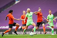 21st August 2020, San Sebastian, Spain;  Pernille Harder Wolfsburg shoots during the UEFA Womens Champions League football match Quarter Final between Glasgow City and VfL Wolfsburg.