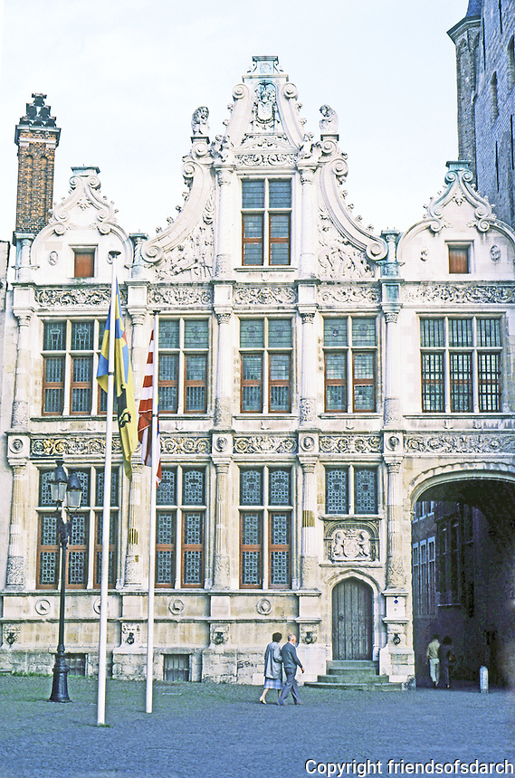 Bruges: Old Recorders House, Flemish Renaissance style.  Photo '87.