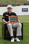 """Paul Lawrie was asked by Ballantine's at the BMW Masters to describe how he stays true to himself; his answer is shown. Ballantine's, who recently announced their new global marketing campaign, """"Stay True, Leave An Impression"""", is a sponsor at the BMW Masters, which takes place from the 24-27 October at Lake Malaren Golf Club in Shanghai.  Photo by Andy Jones / The Power of Sport Images for Ballantines."""