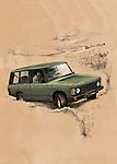 Illustrative image of SUV riding on desert