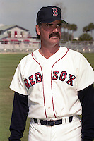 Boston Red Sox Dennis Lamp during spring training circa 1990 at Chain of Lakes Park in Winter Haven, Florida.  (MJA/Four Seam Images)