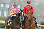 #6 Euphrosyne with jockey Ricardo Santana, Jr. aboard during the post parade of the Honeybee Stakes (Grade III) at Oaklawn Park in Hot Springs, Arkansas-USA on March 8, 2014. (Credit Image: © Justin Manning/Eclipse/ZUMAPRESS.com)