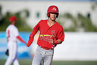 Palm Beach Cardinals shortstop Kramer Robertson (3) runs the bases during a game against the Florida Fire Frogs on May 1, 2018 at Osceola County Stadium in Kissimmee, Florida.  Florida defeated Palm Beach 3-2.  (Mike Janes/Four Seam Images)