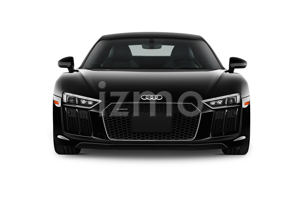 Car photography straight front view of a 2017 Audi R8 quattro 2 Door Coupe