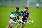 Aodhán Mac Gearailt of Lispole been well shawoded by Conor Sheehan of Knocknagoshel in the County Football league division 4 relegation game.