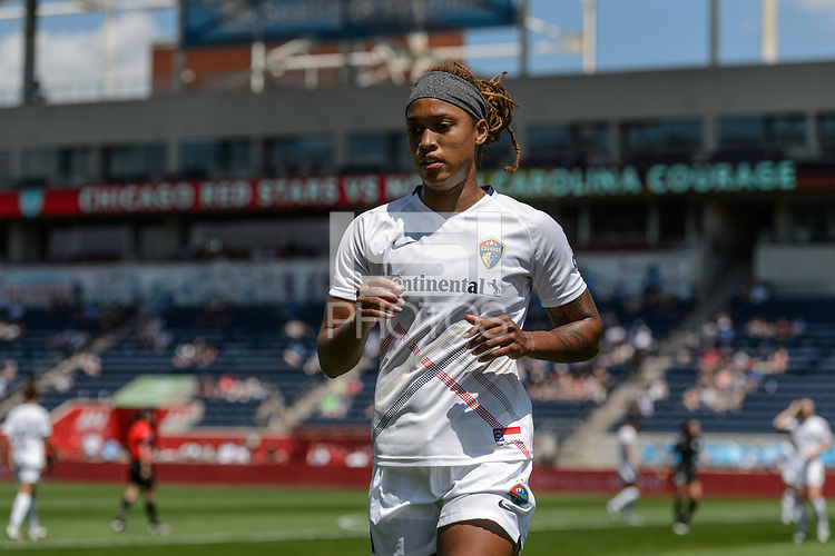 BRIDGEVIEW, IL - JUNE 5: Jessica McDonald #14 of the North Carolina Courage looks on during a game between North Carolina Courage and Chicago Red Stars at SeatGeek Stadium on June 5, 2021 in Bridgeview, Illinois.