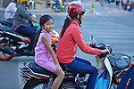 Woman & Young Girl On Scooter