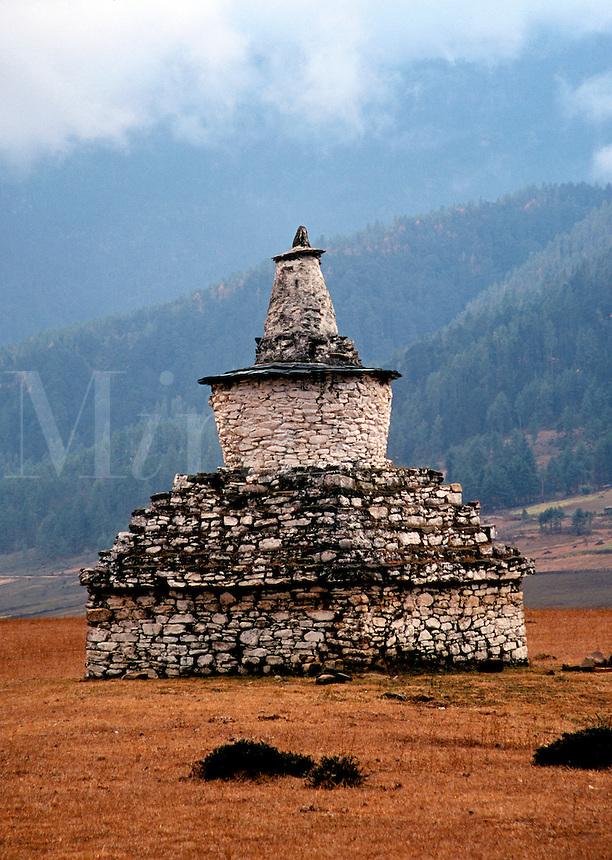 Chorten Phobjikha valley in Bhutan.