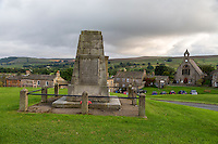 UK, England, Yorkshire, Reeth.  Memorial to those Who Died in World War I.