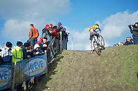 uphill battle for Jens Adams (BEL)<br /> <br /> 2014 Noordzeecross