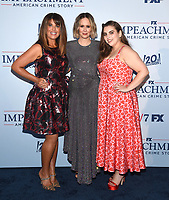 """WEST HOLLYWOOD - SEPT 1: Producer Monica Lewinsky, Executive Producer/cast member Sarah Paulson and cast member Beanie Feldstein attend a red carpet event for FX's """"Impeachment: American Crime Story"""" at Pacific Design Center on September 1, 2021 in West Hollywood, California. (Photo by Frank Micelotta/FX/PictureGroup)"""