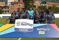 ENVIGADO-COLOMBIA, 01-02-2020: Itagüi Leones F.C. y Bogotá F.C., durante partido por la fecha 1 del Torneo BetPlay DIMAYOR I 2020 en el estadio Polideprtivo Sur de la ciudad de Envigado. / Itagüi Leones F.C. and Bogota F.C., during a match for the 1st date of the BetPlay DIMAYOR I 2020 tournament at the Polideportivo Sur de stadium in Envigado city. / Photos: VizzorImage / León Monsalve / Cont.